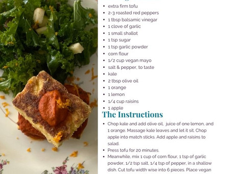 Cooking with Gina: Tofu and Kale