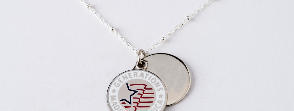 Patriotic Double Charm Pendant with Chain