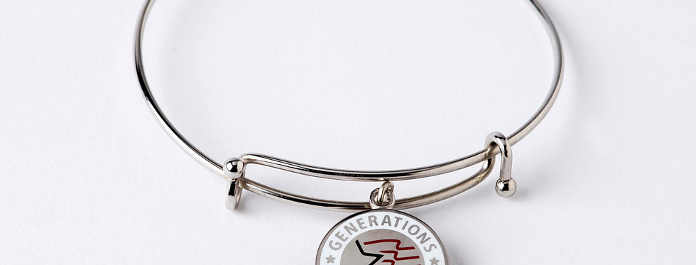 Patriotic Charm with Expandable Bangle