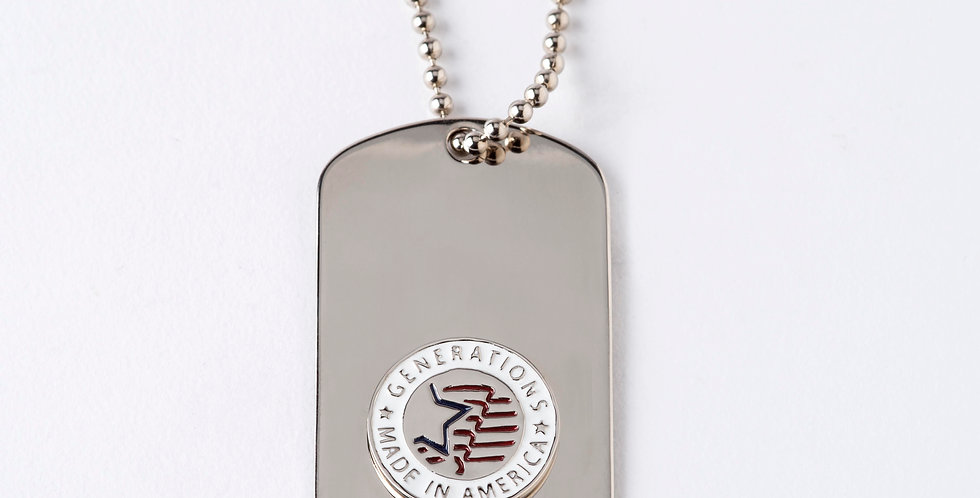 Patriotic Large Dog Tag with Chain