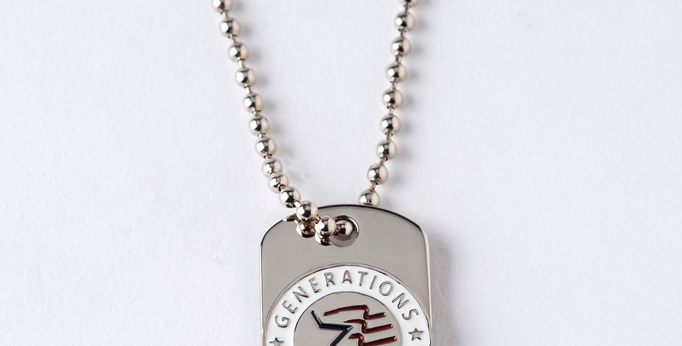 Patriotic Mini Dog Tag with Chain