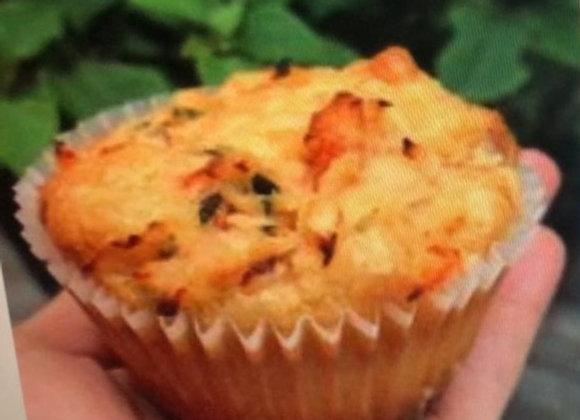 Muffin salgado sem glúten baixo índice de carboidratos