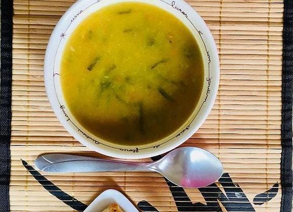 Sopa detox e lowcarb : Couve- flor com repolho e carne moída