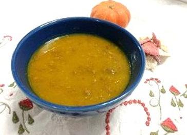 Sopa detox : Abóbora com gengibre e couve manteiga