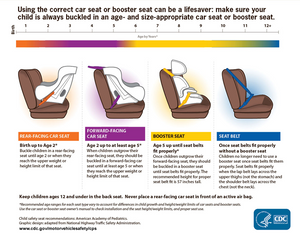 car seat and booster seat diagram