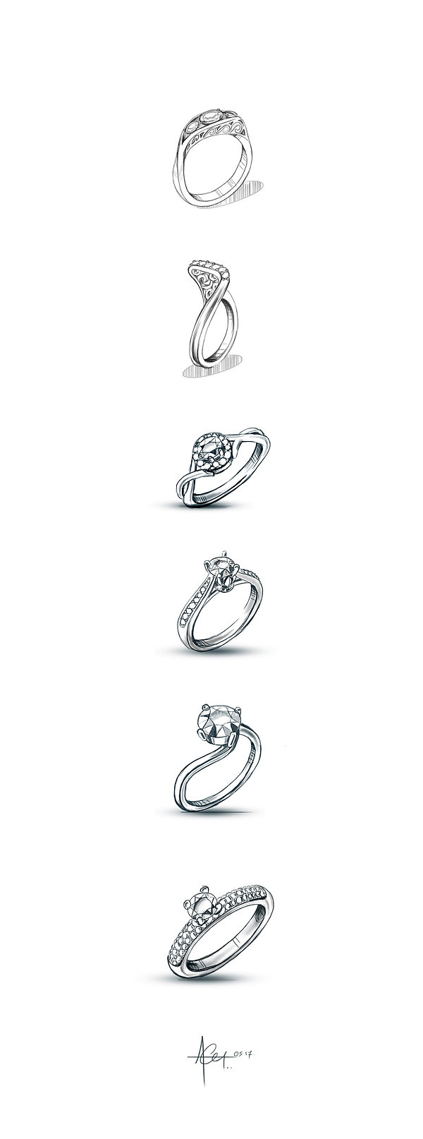 Soloitaire Rings