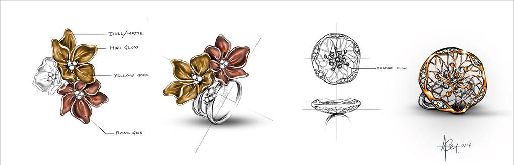 Organic or Nature inspired jewellery