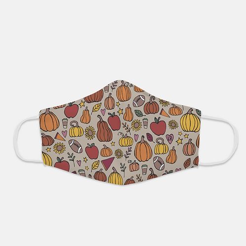 Fall Print | Face Cover With Ear Loops