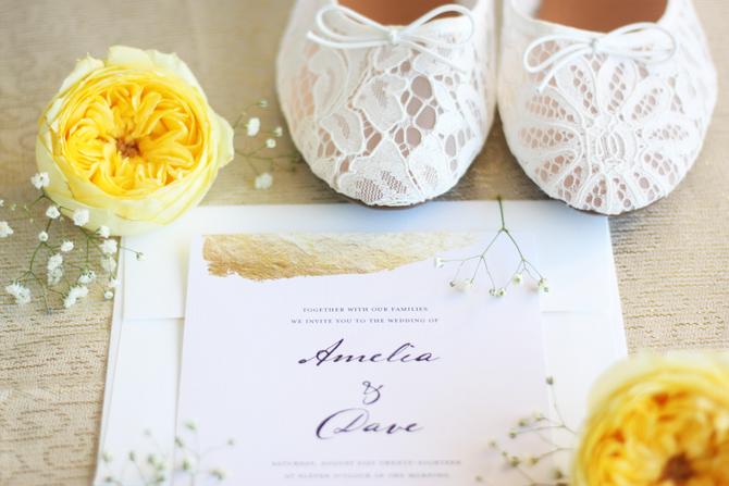 Wedding Invitation Design | Amelia + Dave