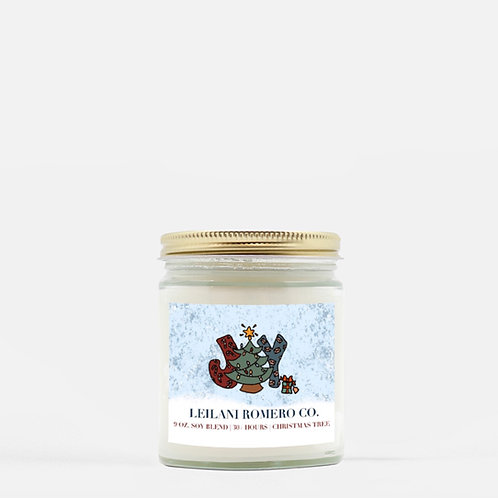 Joy | Christmas Tree Candle