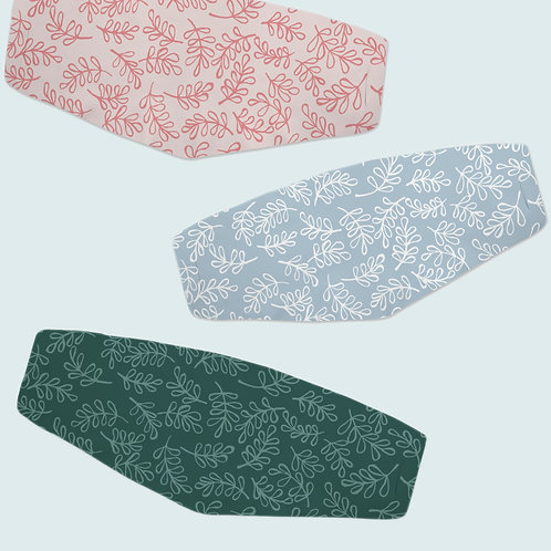 Leafy Pattern | Fitted Face Cover