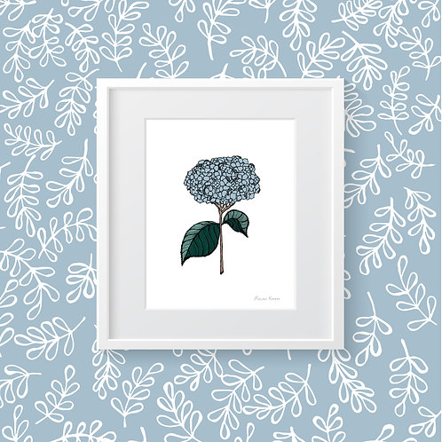 Hydrangea Collection: Southern Floral | Print