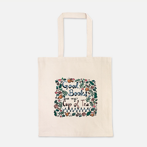 Good Books Are My Cup of Tea | Tote