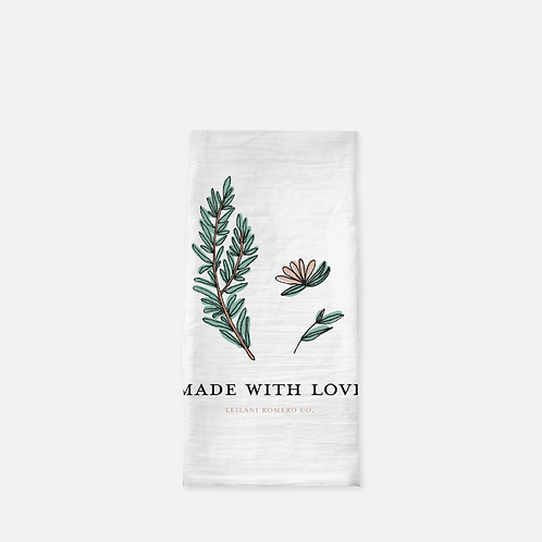 Made With Love Rosemary | Tea Towel