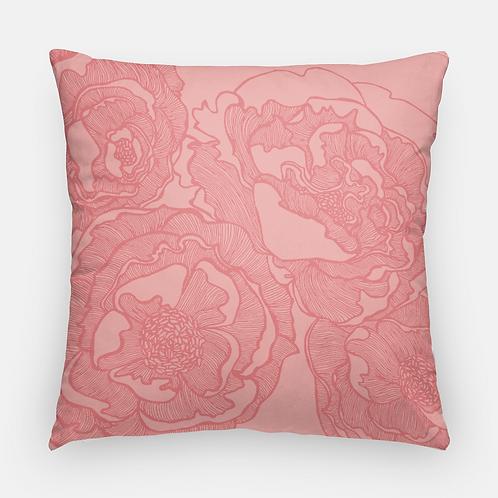Pink Peony | Artisan Throw Pillowcase
