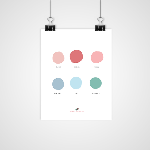 Color Palette Inspiration   Print