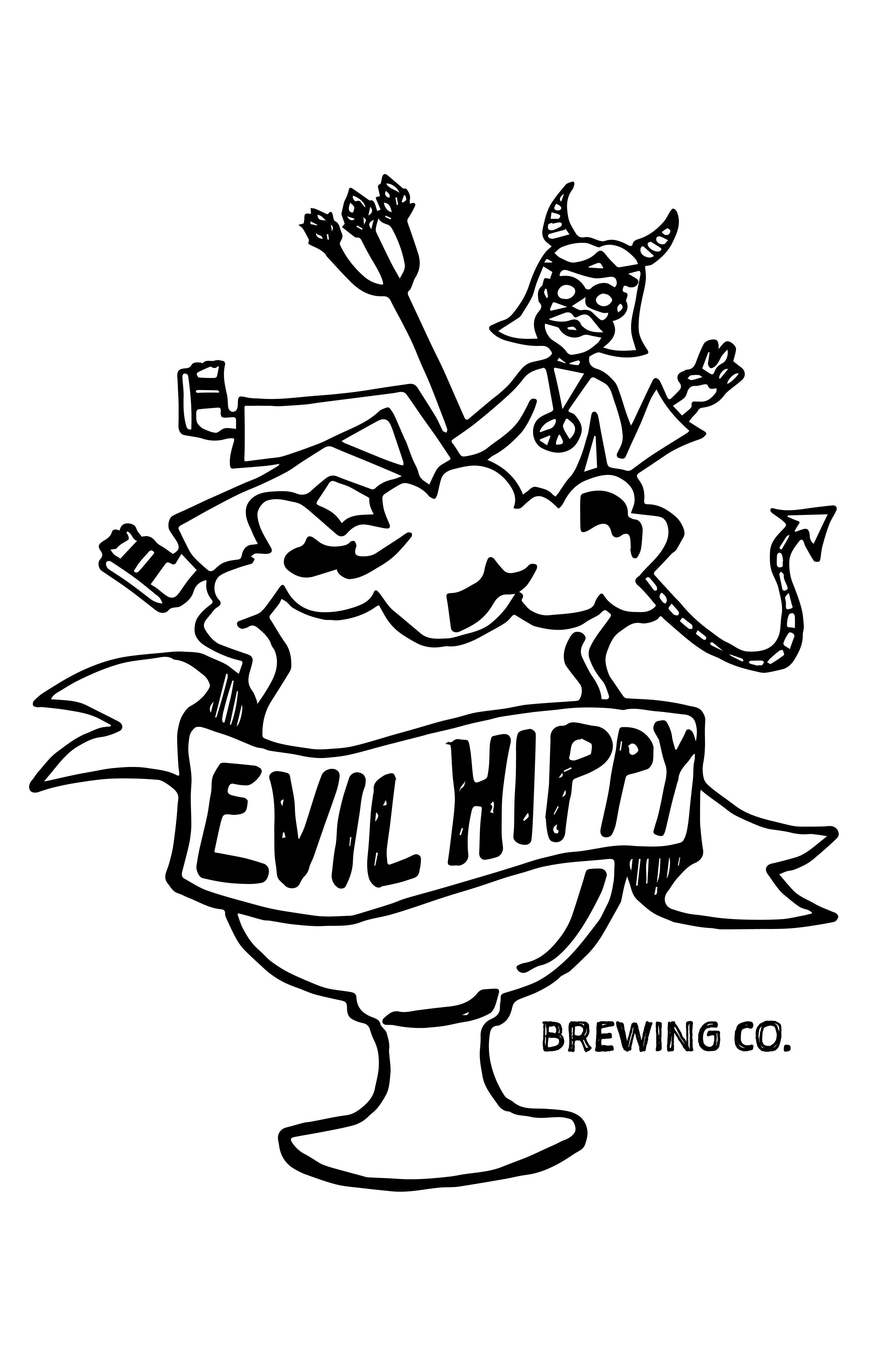 Evil Hippy Brewing Logo