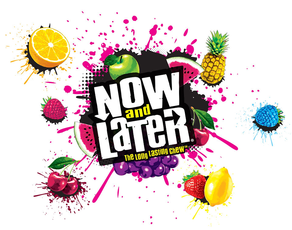 Now and Later Brand Logo and Illustrations