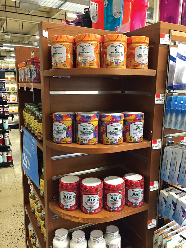 Megafood Wholefood Gummies On-Shelf at Wholefoods