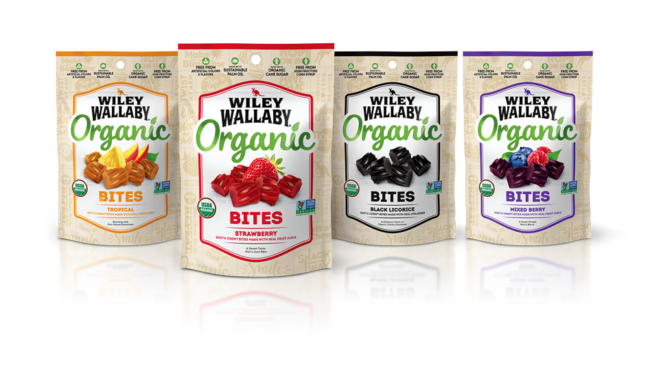 Wiley Wallaby Organic Packaging Lineup
