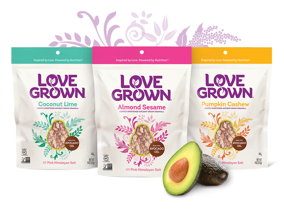 Love Grown Granola Package Design Hughes BrandMix