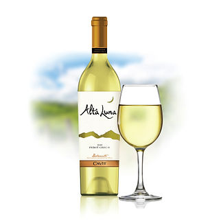 Alta Luna White Wine Packaging