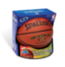 Spaldng Never Flat Basketball Package Design by Hughes BrandMix
