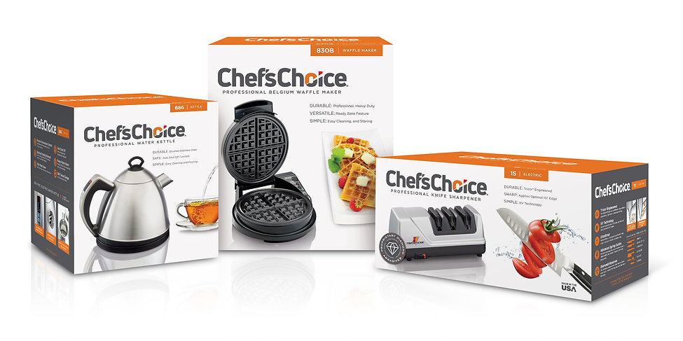 Chef's Choice Brand Family Package Design Hughes BrandMix
