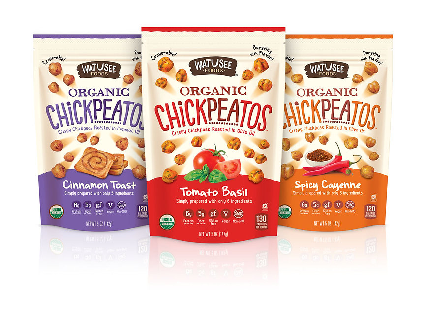 Watusee Chickpeatos Package Design Hughes BrandMix
