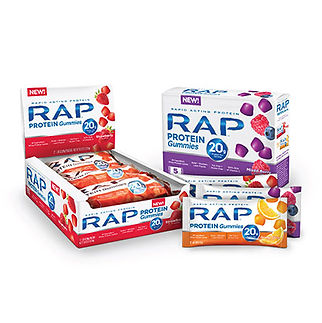 RAP Protein Gummies Packaging