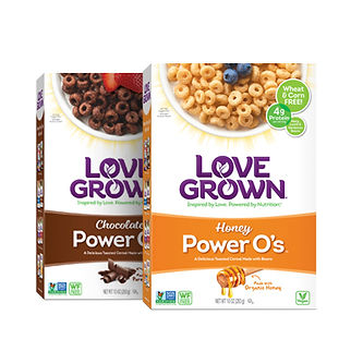 LoveGrown Cereal Package Design Hughes BrandMix
