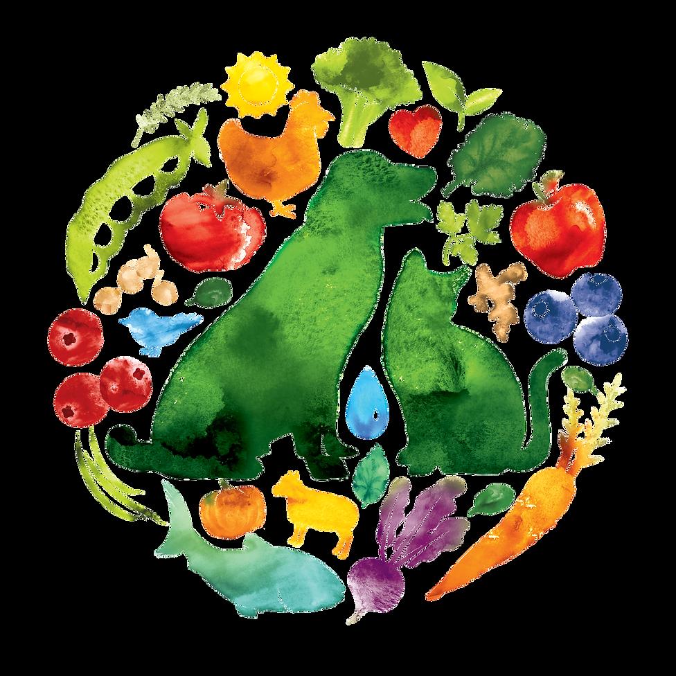 Trufood Watercolor Logo Design Hughes BrandMix