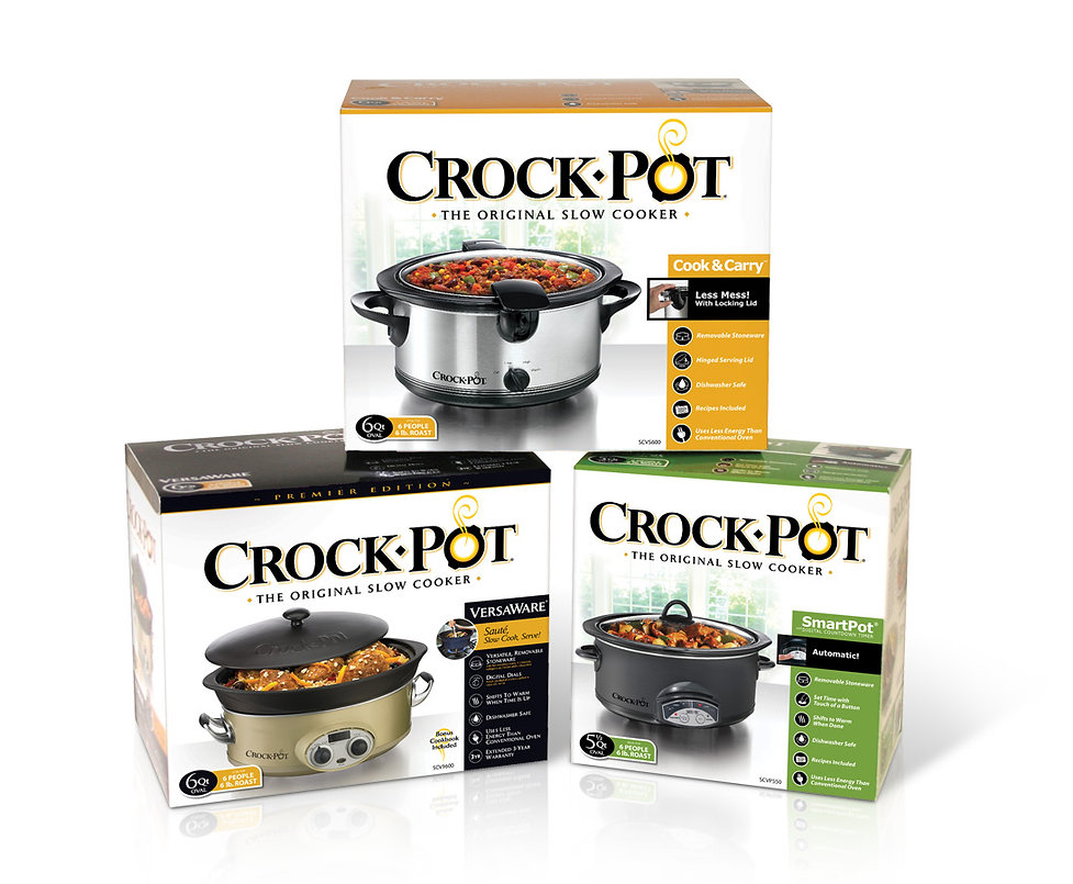 Crockpot Family of Slow Cookers Design by Hughes BrandMix