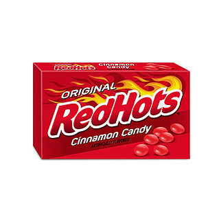 Red Hots Theatre Box Packaging