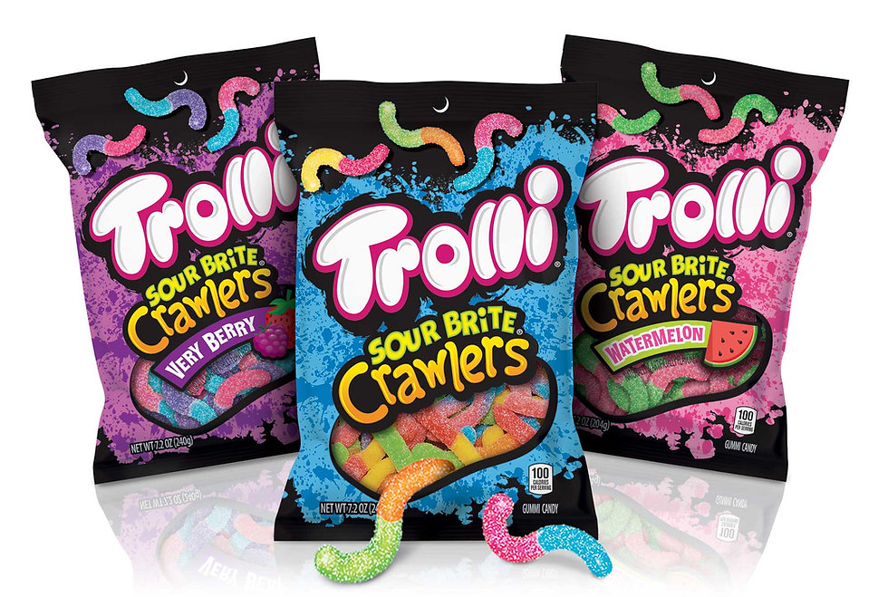 Trolli SourBrite Crawlers Package Design Hughes BrandMix