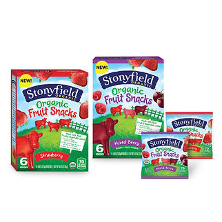 Stonyfield Fruit Snacks Package Design Hughes BrandMix