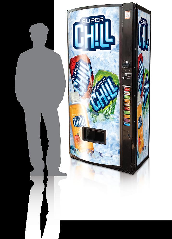 Super Chill Vending Machine Design Hughes Brand Mix