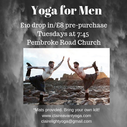 Yoga for Men happens every Tuesday during term time. Join us!