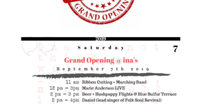 Ina + Forbes Restaurant Grand Opening: September 7