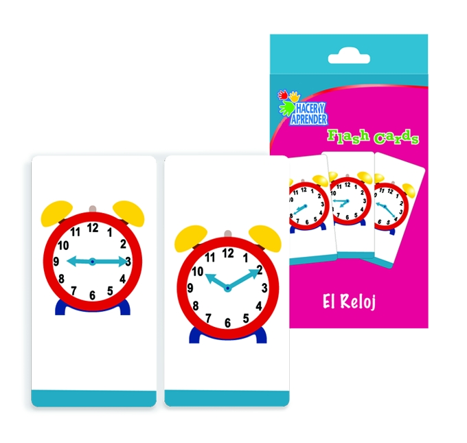 6022 Flash cards Reloj