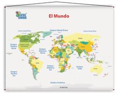 1737 Lámina Didáctica El Mundo