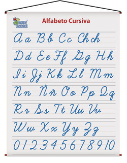 1702 ALFABETO CURSIVAS