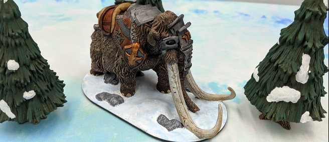 Armored Mamoth Miniature