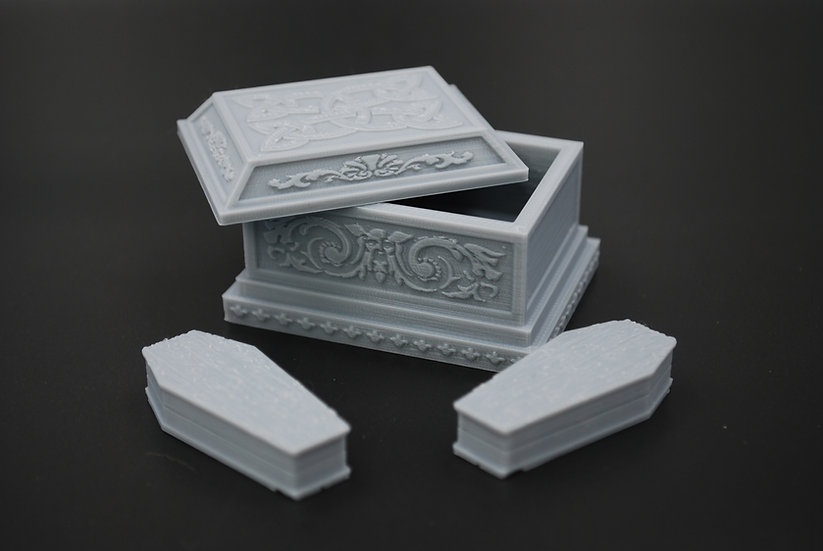Sarcophagus and Coffins For Undead or Graveyard Tabletop Scatter