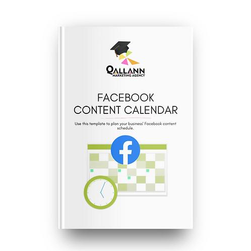 Facebook Content Calendar