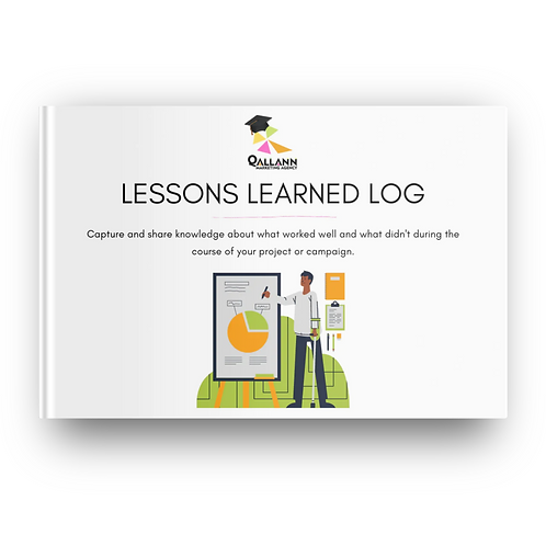 Lessons learned log template