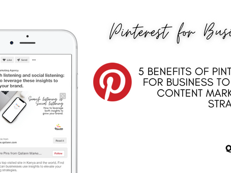 5 benefits of Pinterest for Business to your content marketing strategy