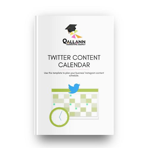 Twitter Content Calendar