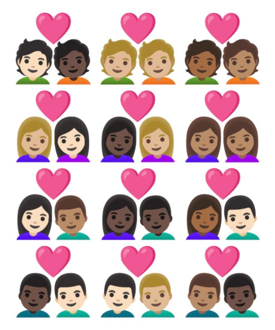 Couple emojis