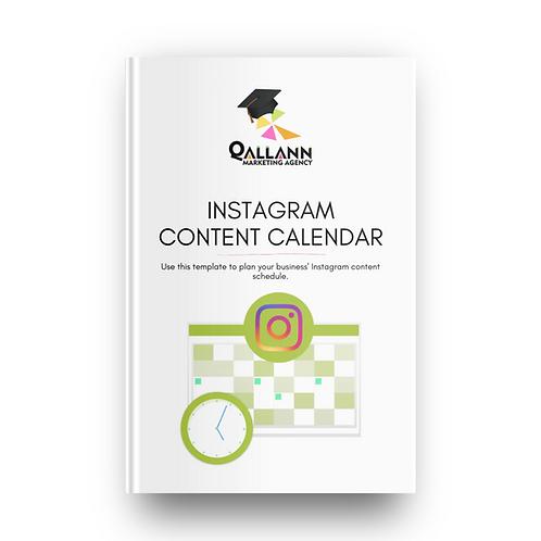 Instagram Content Calendar Template